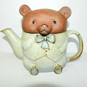Other - Japan Uctici Pottery 80s Teddy Bear figural Teapot